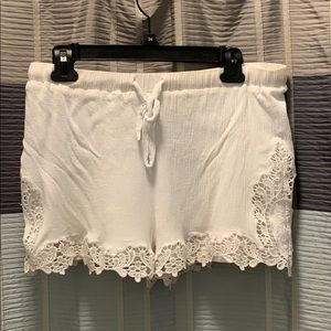 Pins and Needles White Women's Shorts
